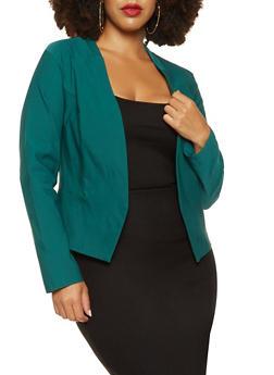 Plus Size Stretch Blazer - 3932068513708