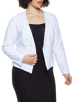 Plus Size Stretch Blazer - 3932068518515