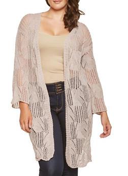 Plus Size Crochet Duster - 3932069390222
