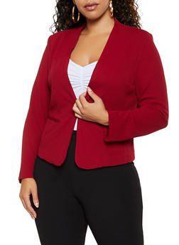 Plus Size Textured Knit Blazer | 3932069392472 - 3932069392472