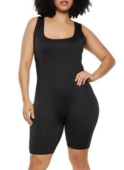 Plus Size Spandex Jumpsuits