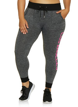 Plus Size Los Angeles Graphic Joggers - 3951001444791