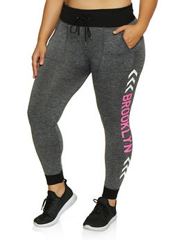 Plus Size Brooklyn Graphic Joggers - 3951001444793