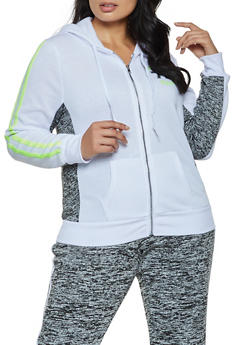 Plus Size Athletic Dept 72 Zip Sweatshirt - 3951038347170