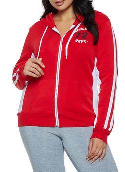 Plus Size Athletic Dept 72 Zip Sweatshirt - 3951038347170