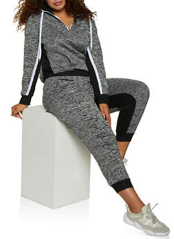Plus Size Half Zip Pullover Sweatshirt - 3951038347507