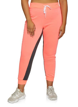 Plus Size Fleece Lined Joggers | 3951038347508 - 3951038347508