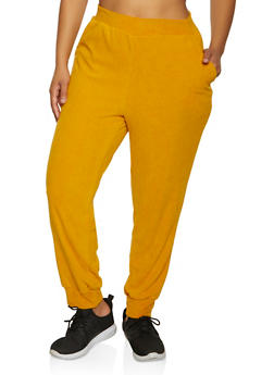 Plus Size Corduroy Joggers - 3951038347771