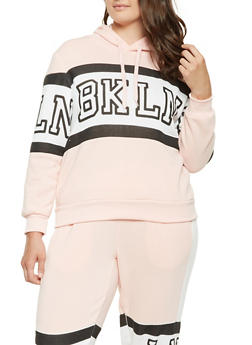 Plus Size BKLN Graphic Sweatshirt - 3951051060050