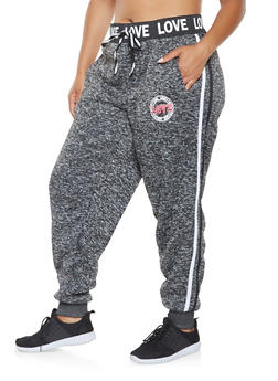 Plus Size Graphic Waistband Sweatpants - 3951051060473