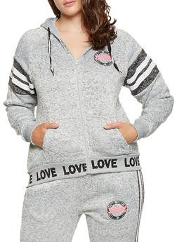 Plus Size Love Graphic Sweatshirt - 3951051060729