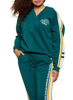 Plus Size Sassy Influencer Hooded Sweatshirt - 3951051061330