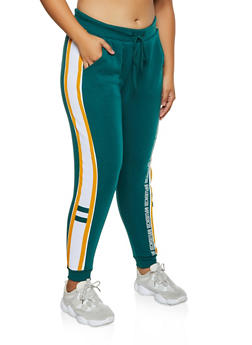 Plus Size Influencer Graphic Joggers - 3951051061331