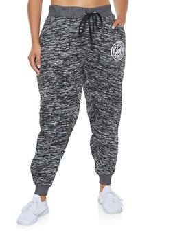Plus Size Love Graphic Sweatpants - 3951051063764