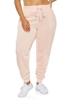 Plus Size Love Graphic Sweatpants - 3951051063764