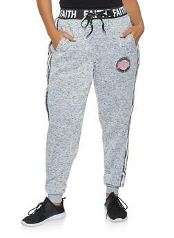 Plus Size Faith Graphic Sweatpants - 3951051063775