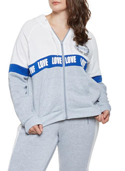 Plus Size Love Graphic Sweatshirt - 3951051066149