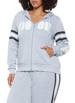 Plus Size Good Vibes Graphic Sweatshirt - 3951051066831