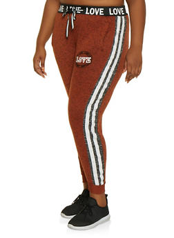Plus Size Love Graphic Joggers | 3951051067291 - 3951051067291