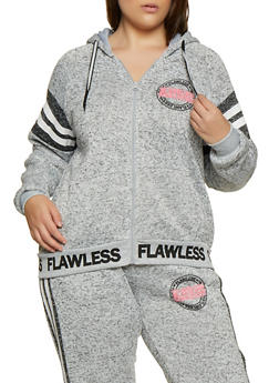 Plus Size Flawless Graphic Knit Sweatshirt - 3951051067292