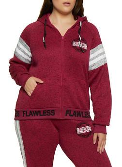 Plus Size Flawless Graphic Knit Sweatshirt - 3951051067292