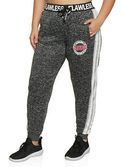 Plus Size Flawless Graphic Knit Joggers - 3951051067293
