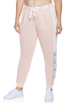 Plus Size Love Graphic Sweatpants - 3951051069355
