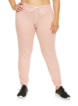 Plus Size Brushed Knit Sweatpants - 3951054265848