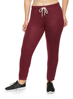 Plus Size Brushed Knit Sweatpants - 3951054265848