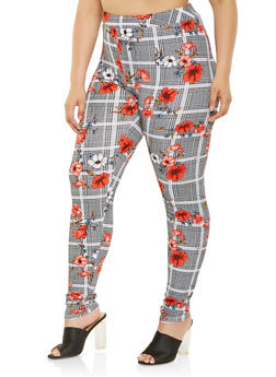 Plus Size Printed Casual Pants - 3951060583324