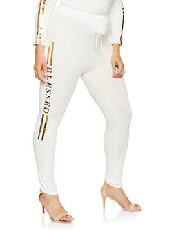Plus Size Blessed Graphic Sweatpants - 3951062120037