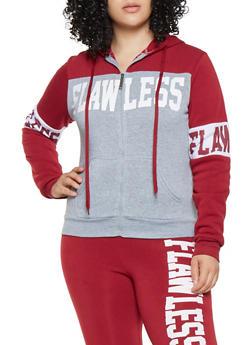 Plus Size Graphic Color Block Sweatshirt - 3951063400915