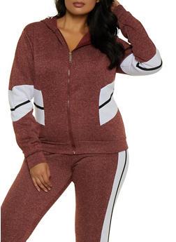 Plus Size Love Zipper Sweatshirt - 3951063401990
