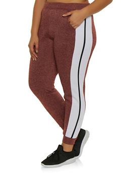 Plus Size Side Stripe Joggers | 3951063401991 - 3951063401991