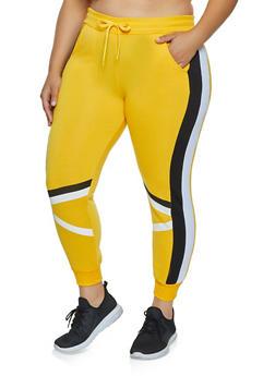 Plus Size Two Stripe Joggers - 3951063404331
