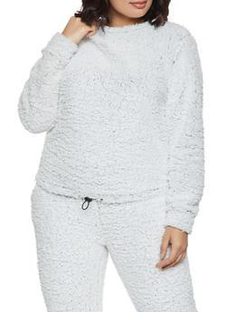 Plus Size Sherpa Sweatshirt - 3951063406600