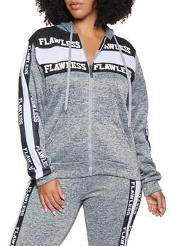Plus Size Flawless Graphic Sweatshirt - 3951063408015