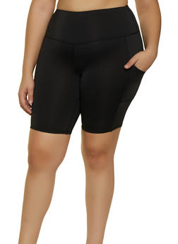Plus Size Two Pocket Bike Shorts - 3960001441475