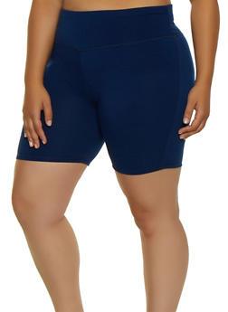 Plus Size Bike Shorts - 3960062703259