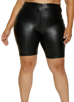 Plus Size Faux Leather Bike Shorts | 3960064729380 - 3960064729380