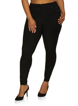 Plus Size 5 Pocket Jeggings - 3961038344909