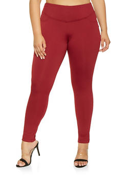 Plus Size Tummy Control Leggings - 3961056570021