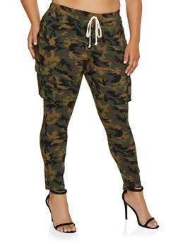 Plus Size Camo Hyperstretch Cargo Jeggings - 3961056574900