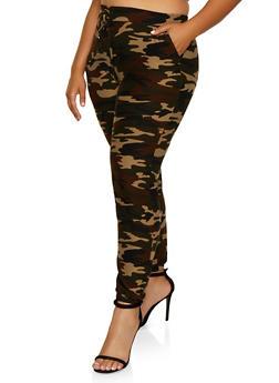 Plus Size Soft Knit Camo Joggers | 3961060580374 - 3961060580374