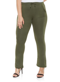 Plus Size French Terry Sweatpants - 3961062700660
