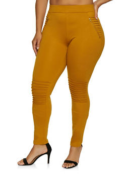 Plus Size Moto Jeggings - 3961062706650