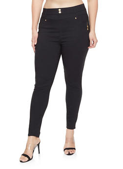 Plus Size High Waisted Jeggings - 3961062906048