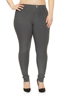 Plus Size Scuba Jeggings - 3961063408432