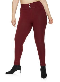 b4161166091 Plus Size Scuba Knit Pull On Pants - 3961063408528
