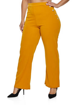 Plus Size Pull On Sailor Dress Pants - 3961074010099